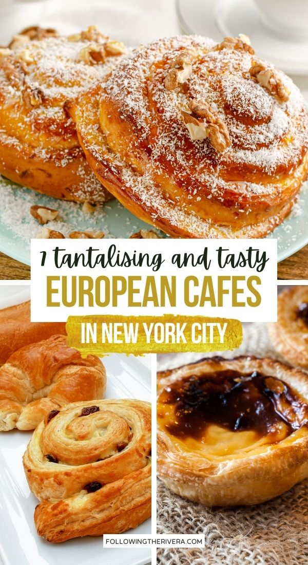 cardamon rolls and pastries - European cafe NYC