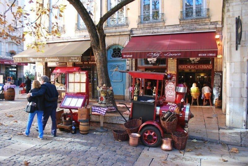 Restaurant fronts in Lyon