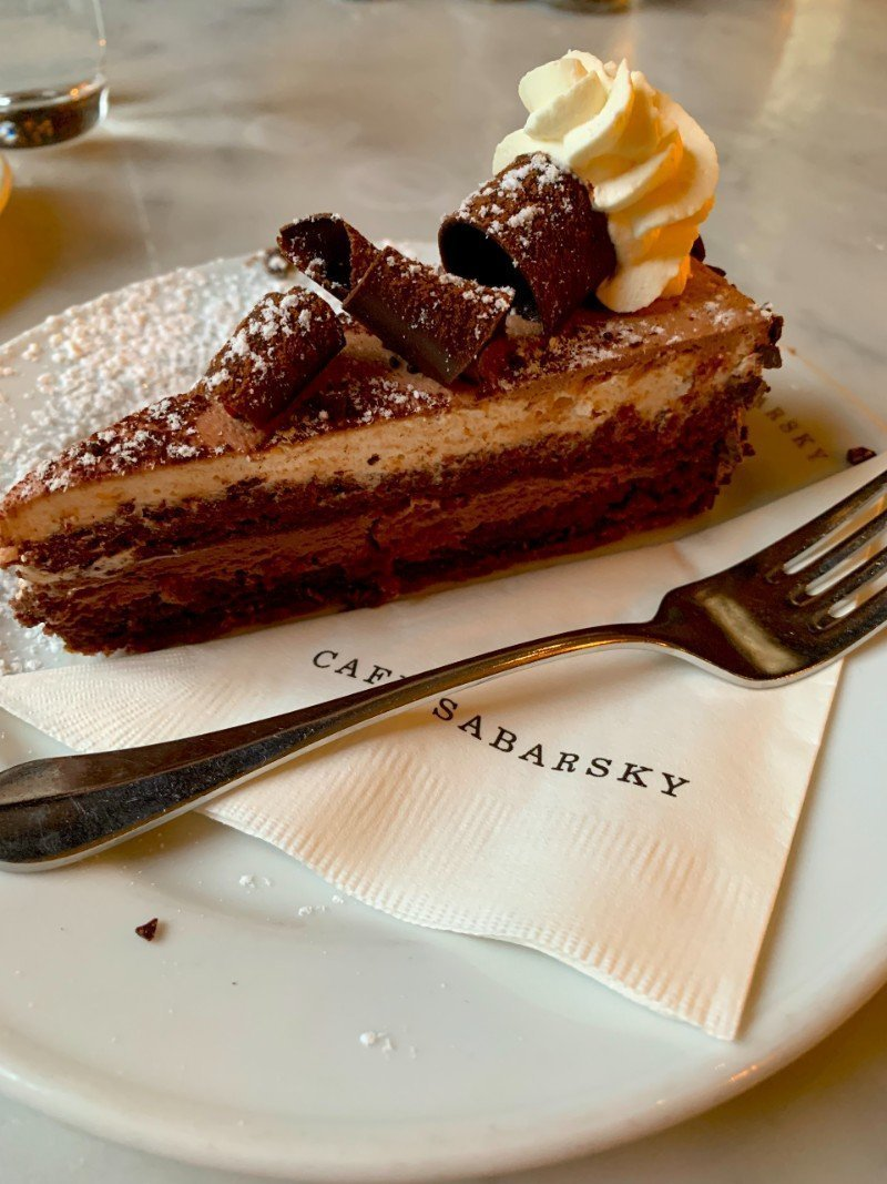 Chocolate cake Cafe Sabarsky - European Cafe NYC