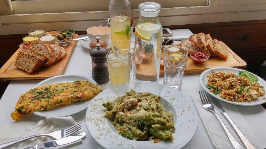 Vegan meal at Anastasia