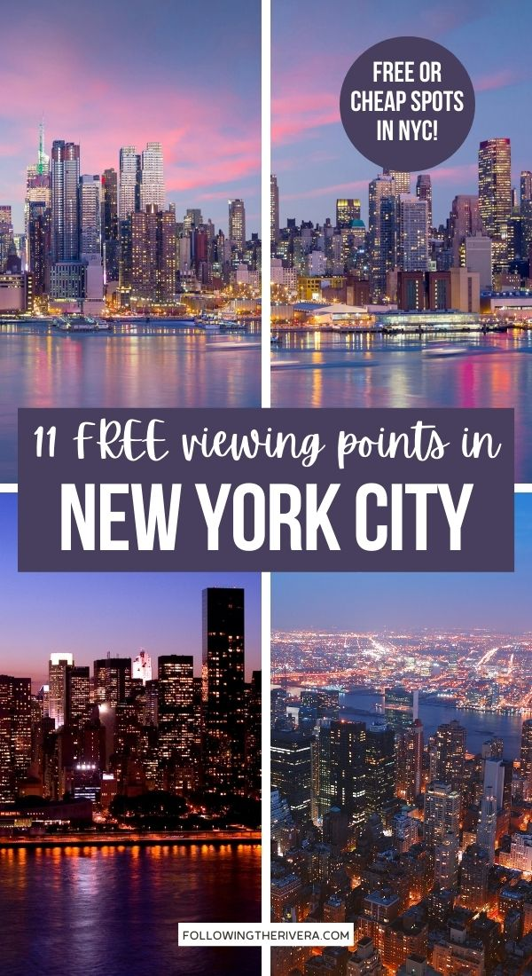 Photos of the New York City skyline - Best views in NYC for free