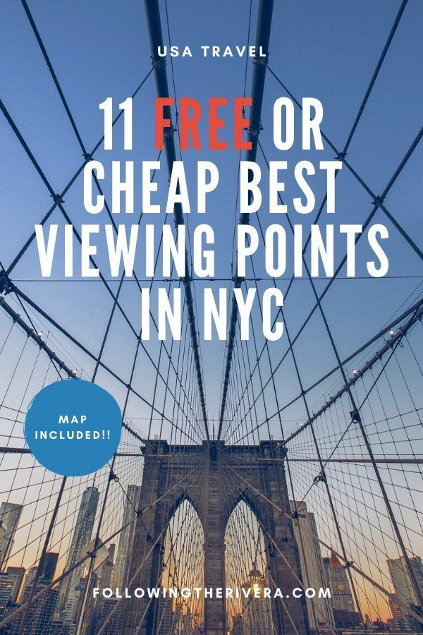 11 FREE or cheap best viewing points in New York City 11