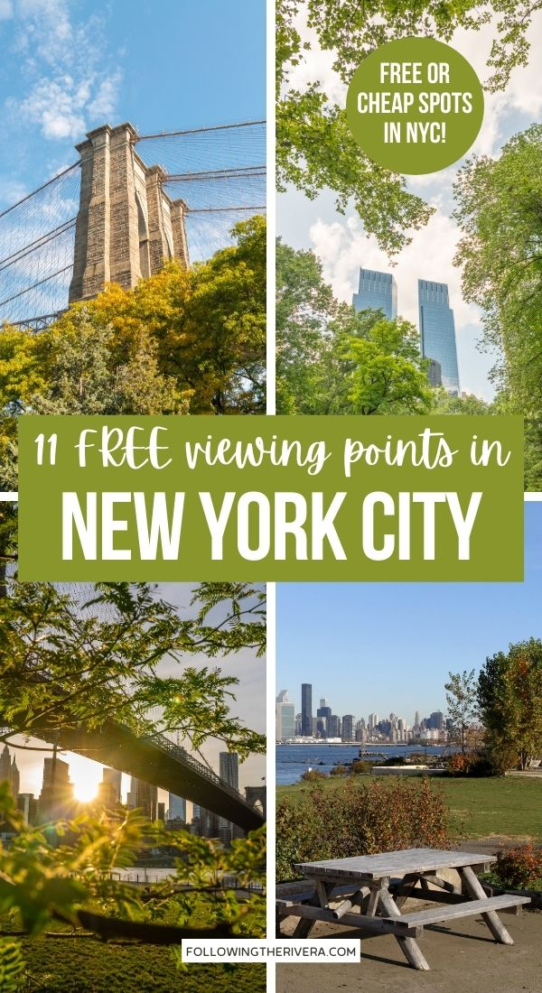 Photos of New York City viewpoints - Best views in NYC for free