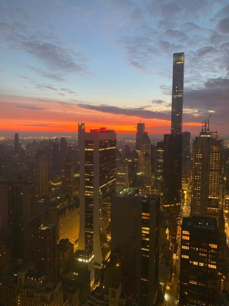 New York City Sunset - best views NYC free Lisa Rivera