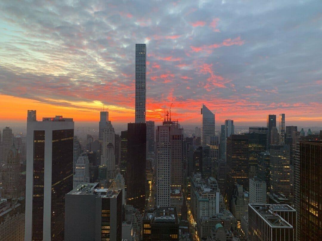 Sunset in New York City - best views NYC free Lisa Rivera