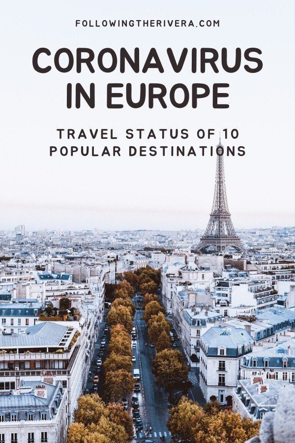 Coronavirus in Europe: the travel status of 10 popular destinations 10