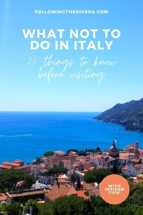 What not to do in Italy — 25 things to avoid on your travels 8