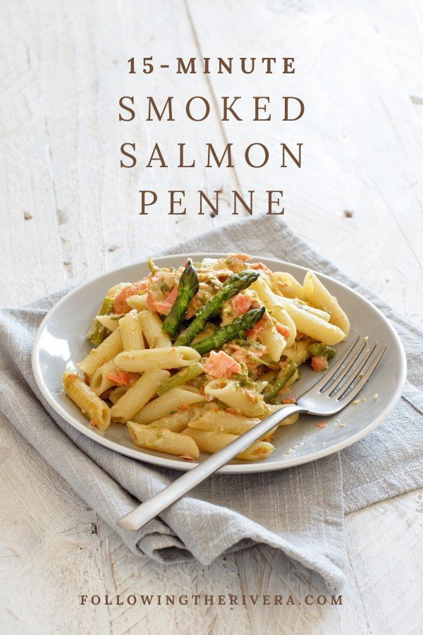 Creamy smoked salmon penne in less than 15 minutes 8