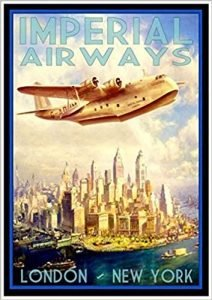 A 1920s airplane in New York - vintage airline posters