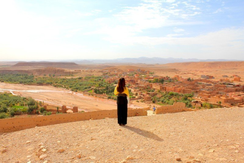 Lisa at Ait Benhaddou — Morocco in October
