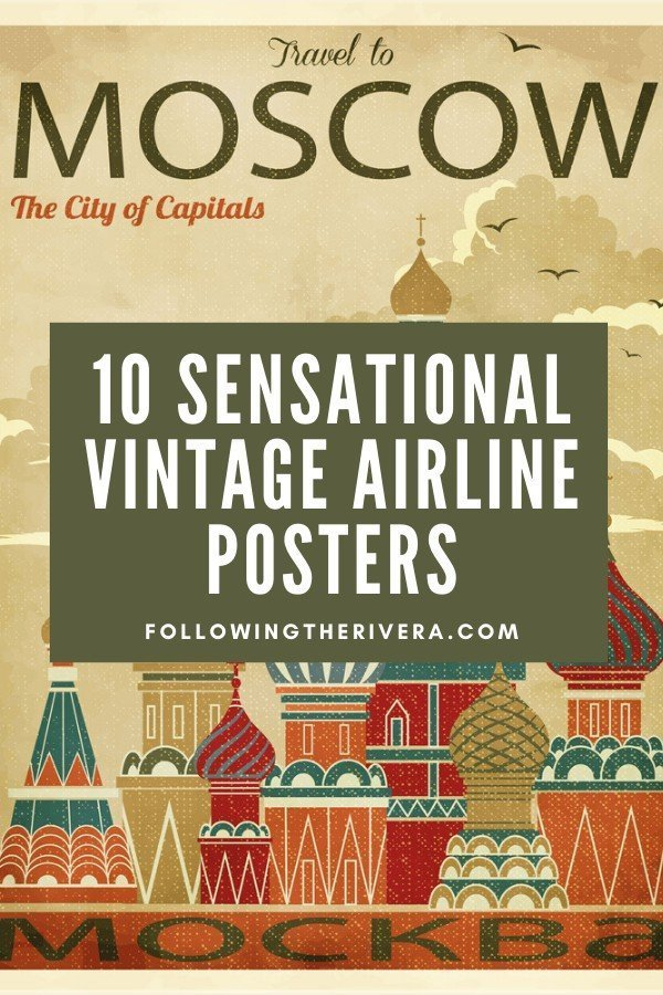 Vintage airline posters — 10 nostalgic time travel gifts 1