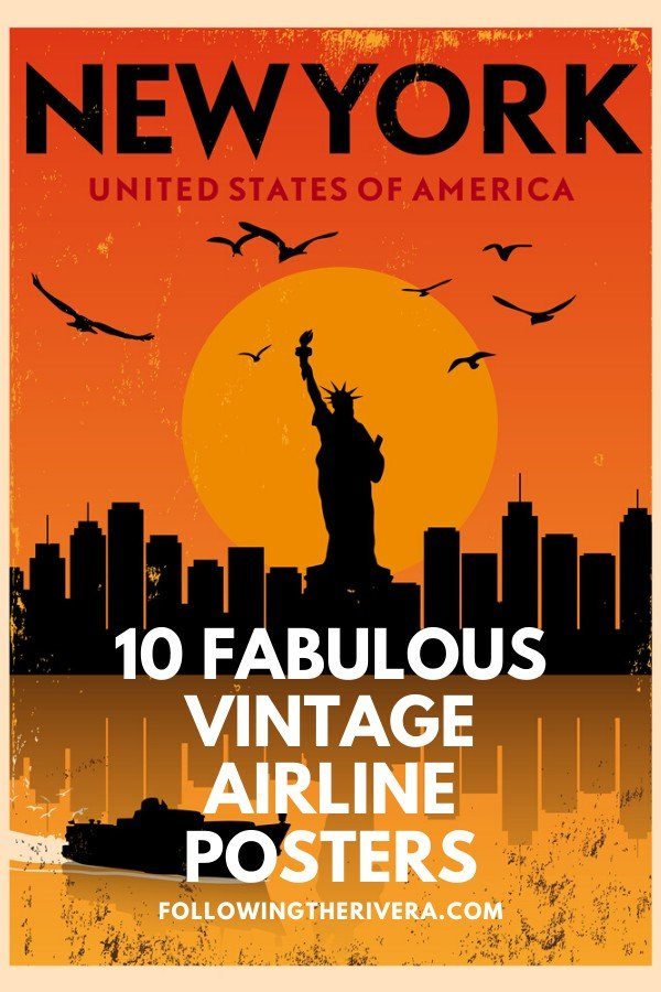 Vintage airline posters — 10 nostalgic time travel gifts 2