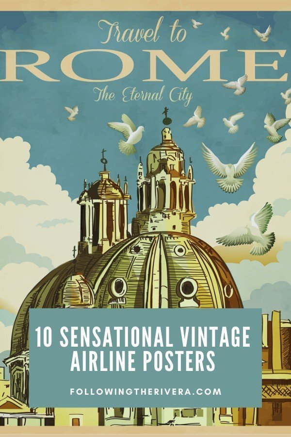 Vintage airline posters — 10 nostalgic time travel gifts 3