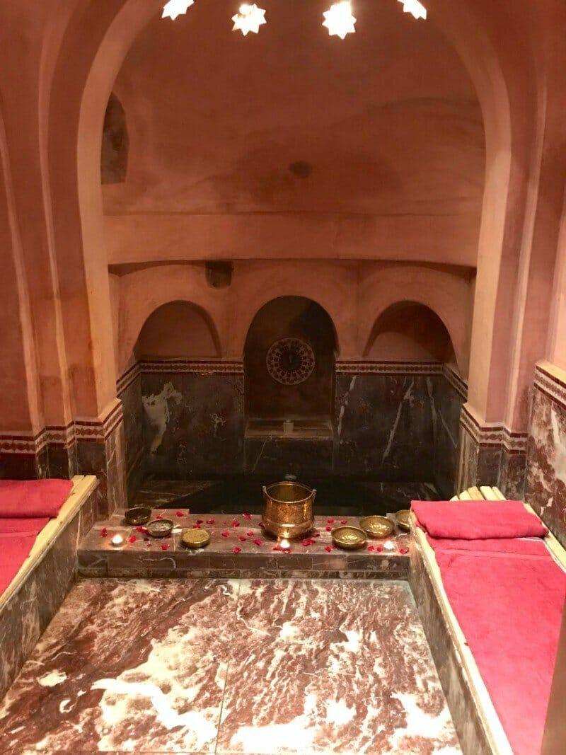 Spa room for hammam — Morocco in October
