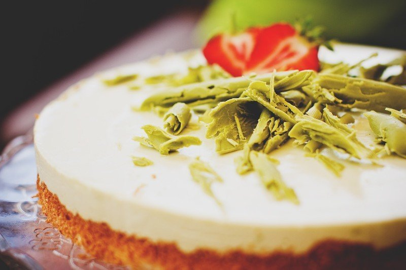 Matcha cheesecake - things to do at night in Singapore