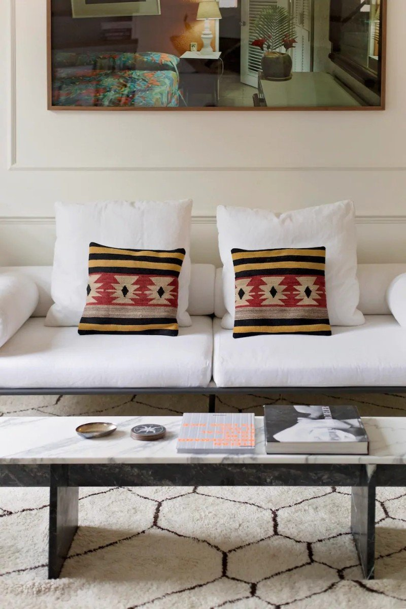 Fulham apartment sofa - Central London Airbnb