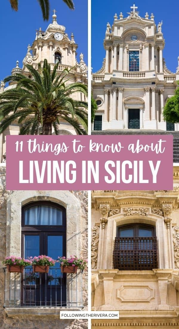Collage of photos living in Sicily
