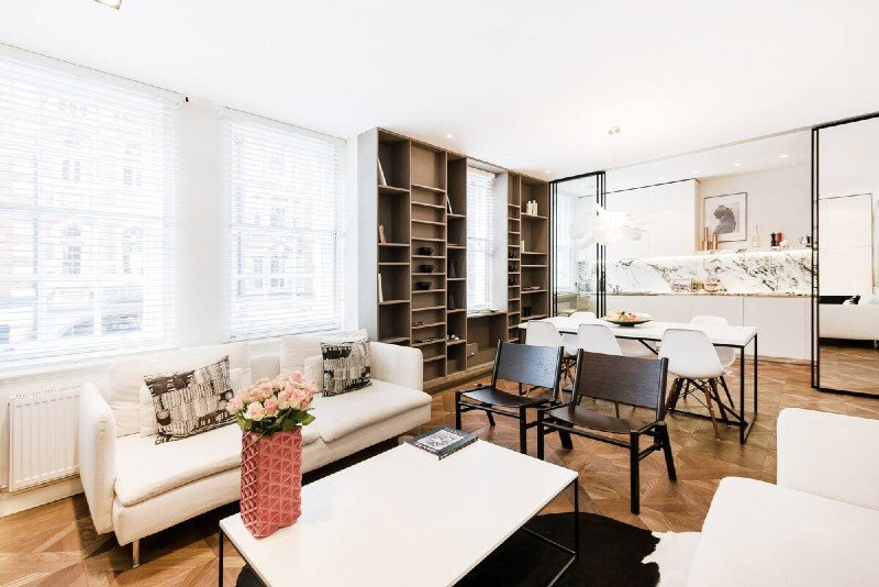 Marylebone apartment living room - Central London Airbnb