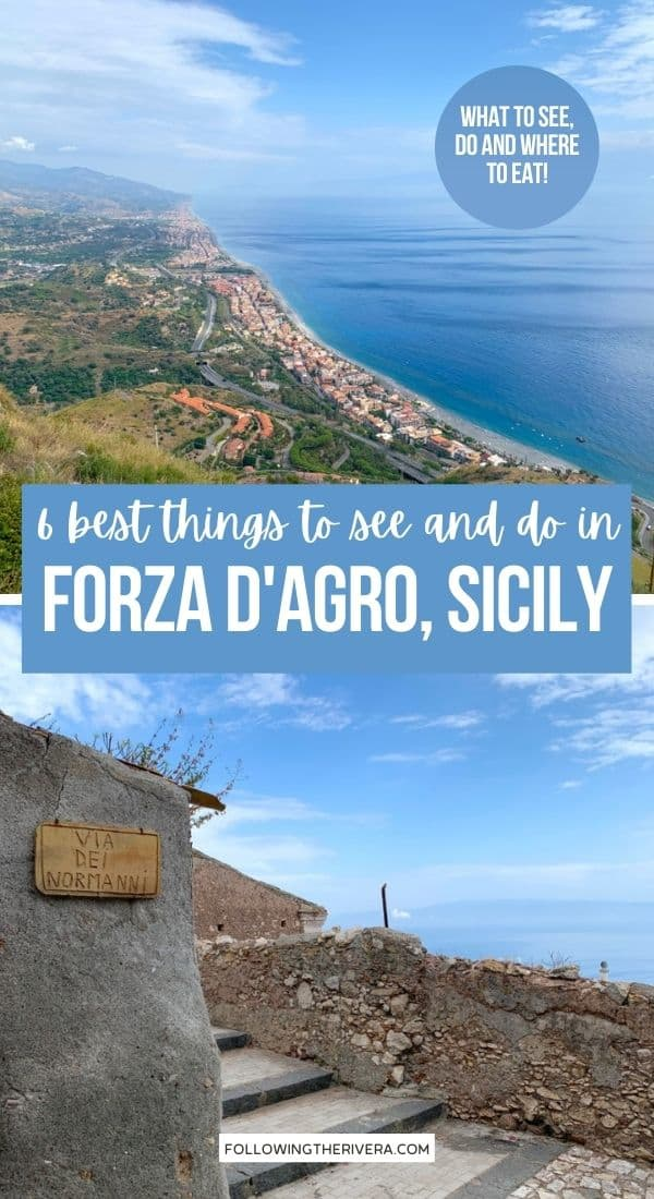 Views from Forza d'Agro Sicily Italy