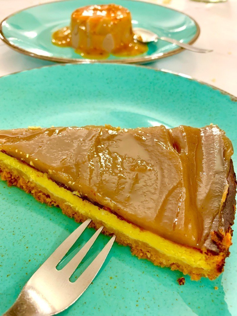 Chesnut cheesecake - best food in Italy