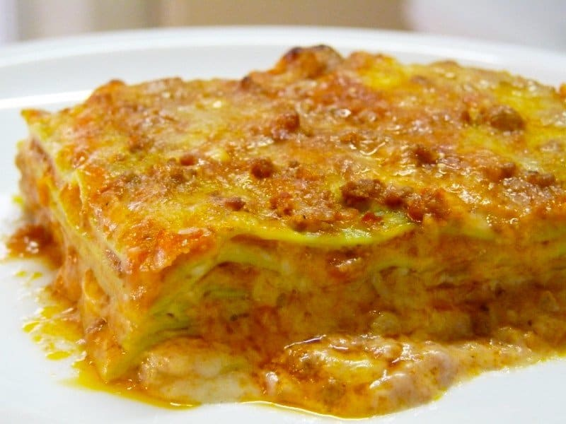 Lasagna bolognese — best food in Italy