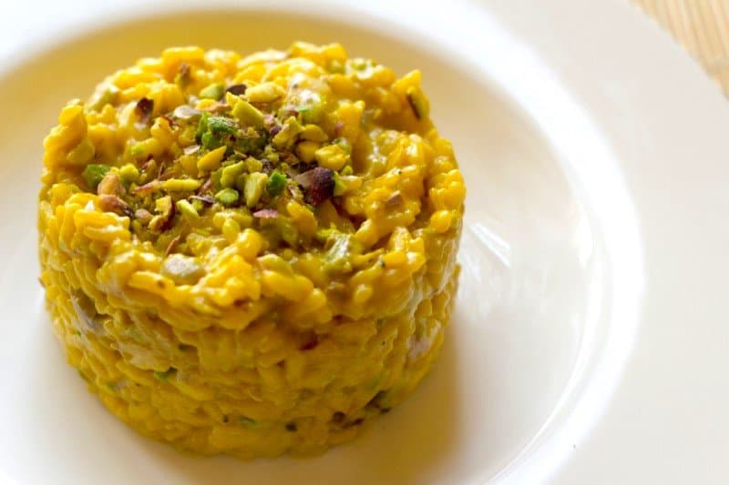 Risotto alla Milanese — best food in Italy