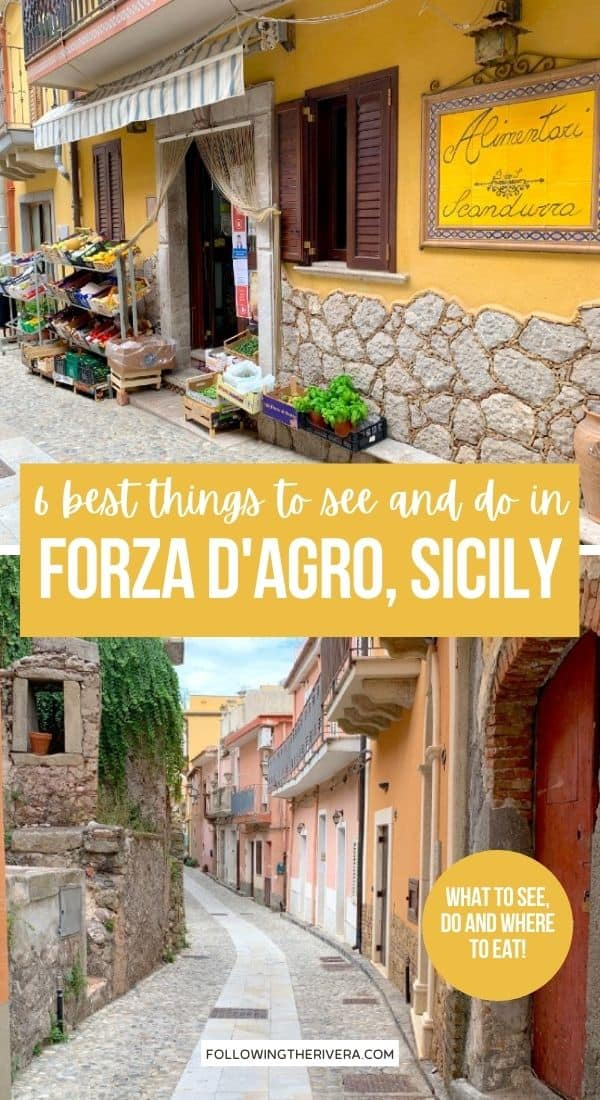 A grocery store and the streets of Forza d'Agro Sicily