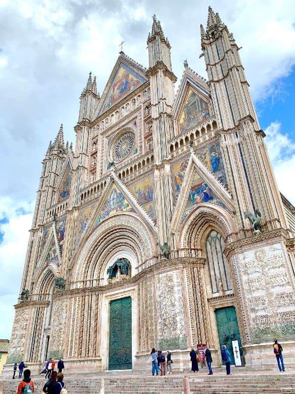 The exterior of the Duomo di Orvieto - Orvieto Italy