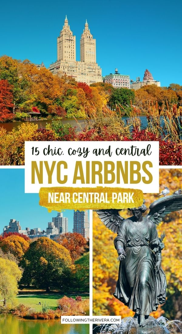 3 photos of Central Park NYC in fall - Airbnb in NYC