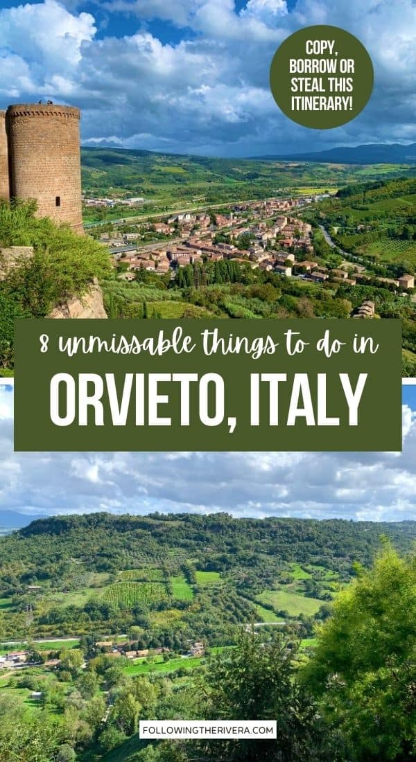 The garden walls and views of Orvieto Italy