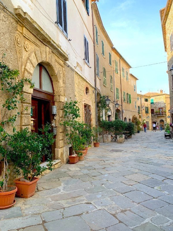 Streets in Montemerano - a village in Tuscany