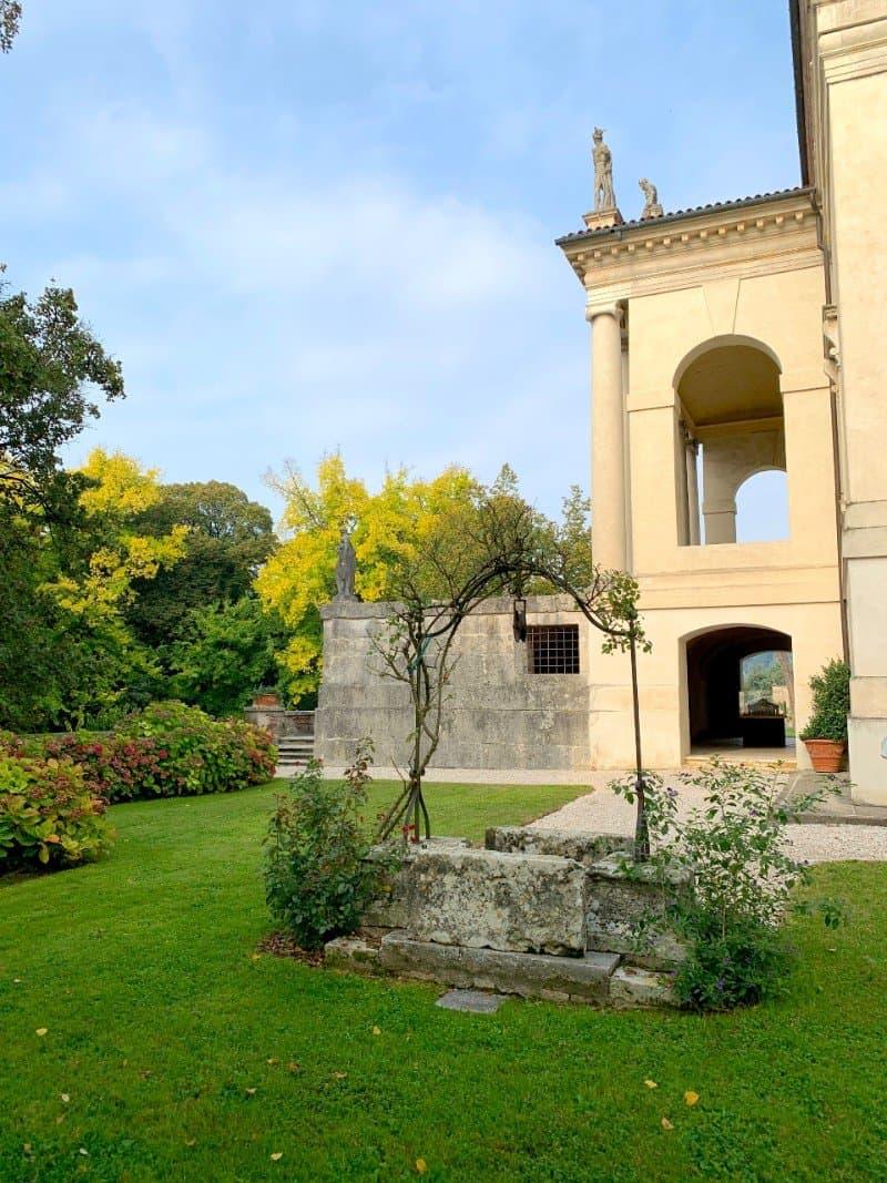 The well and gardens at Villa Rotonda Vicenza