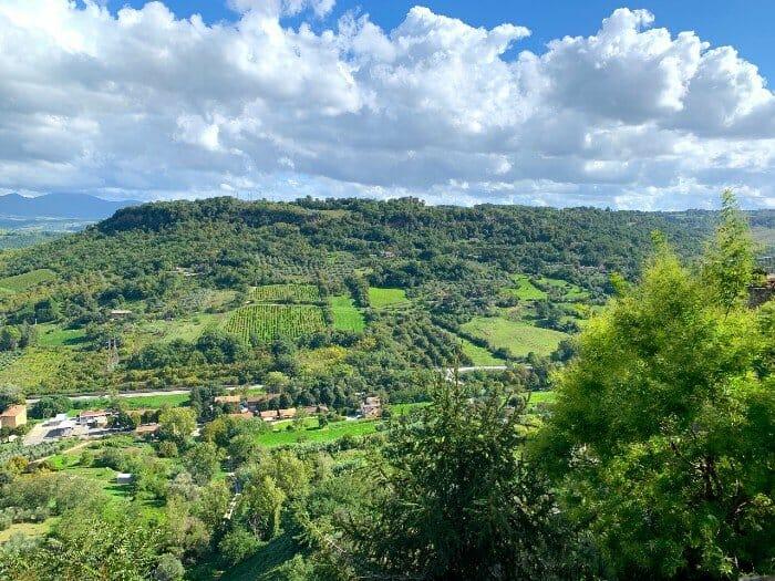 View from Giardini Comunali di Orvieto - Orvieto Italy