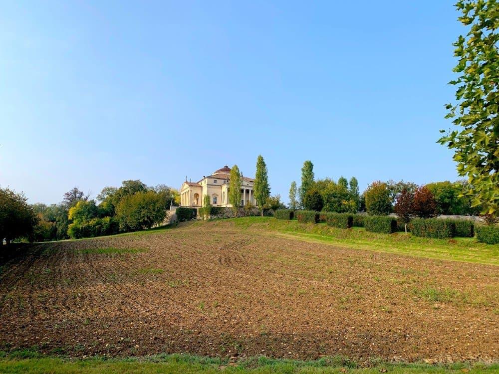 Villa Rotonda Vicenza from the main road