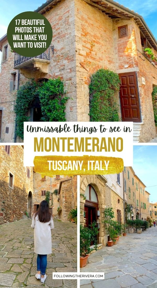 3 photos of Montemerano a village in Tuscany