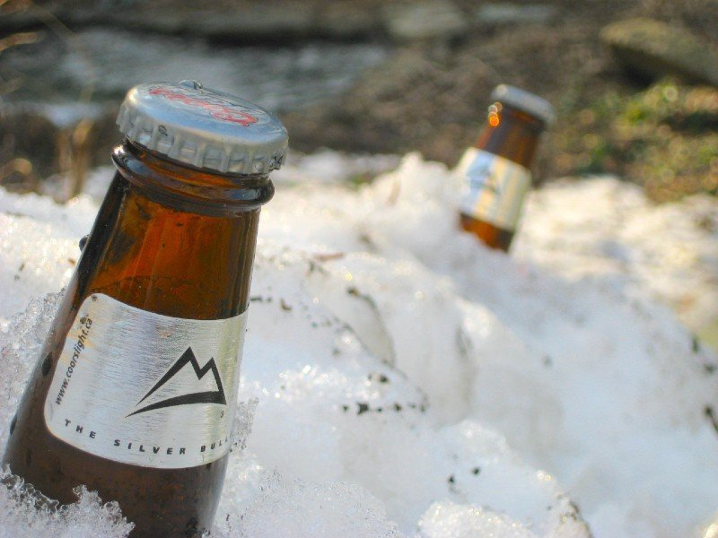 Coors beer in the snow — places to visit in Colorado in the winter