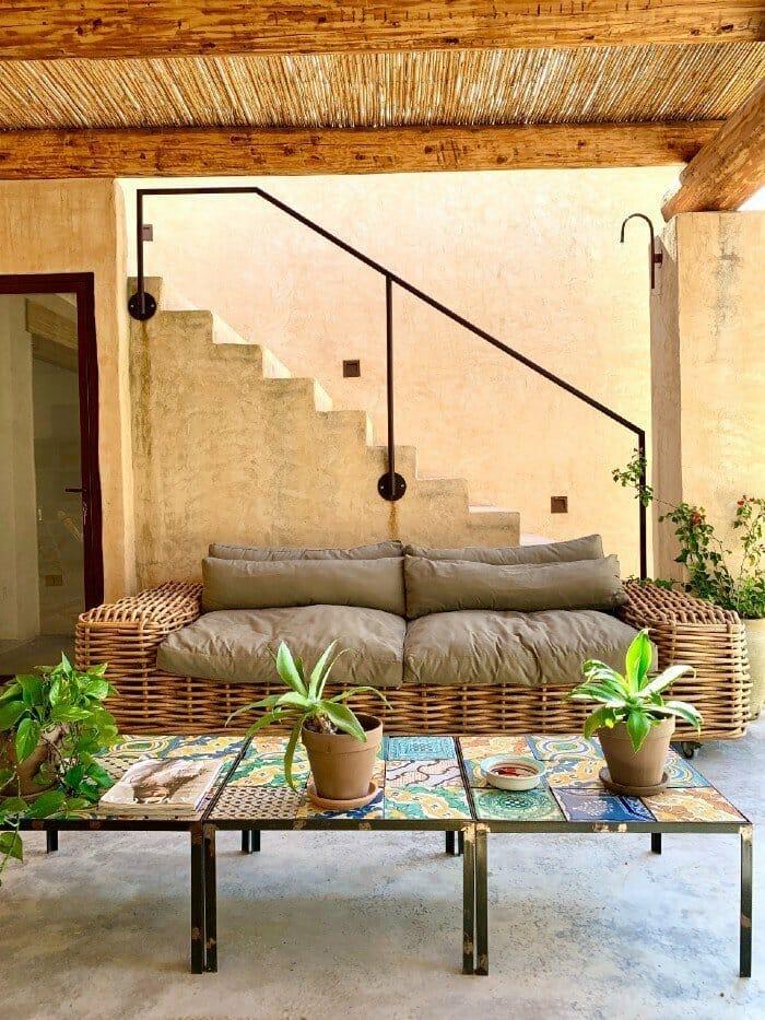 IUTA clubhouse sofa - glamping in Sicily