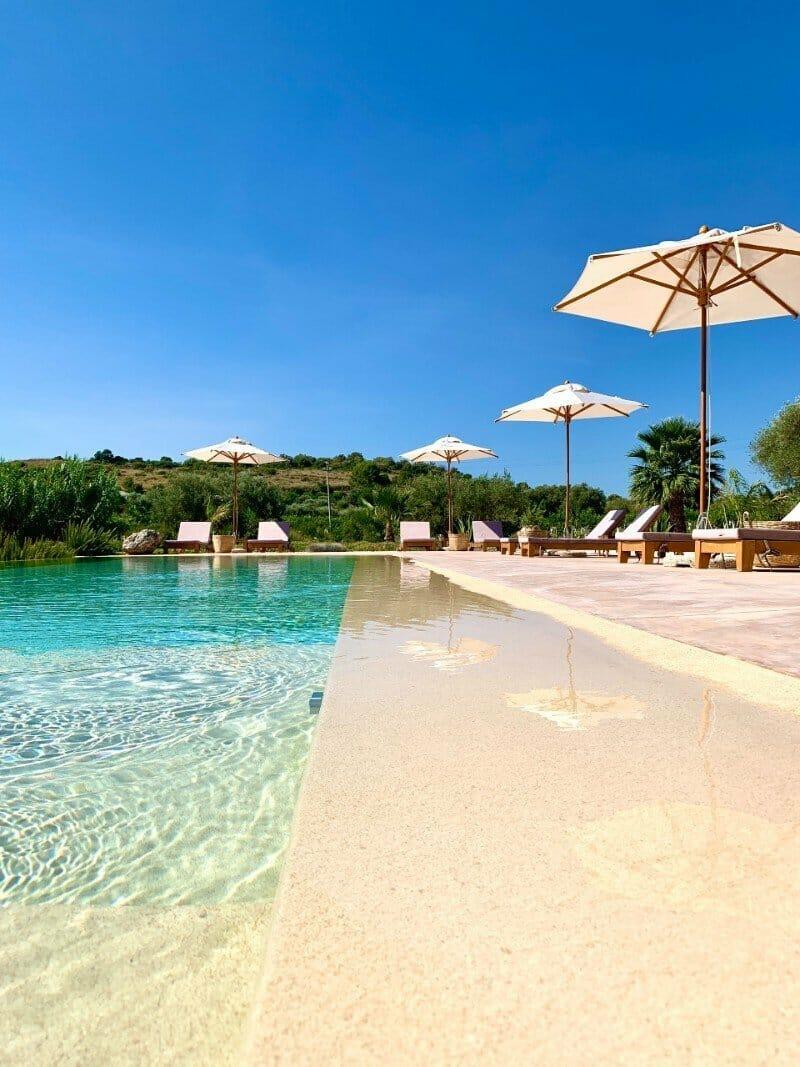 IUTA swimming pool - glamping in Sicily