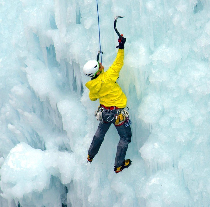 Ice climbing at Ouray — places to visit in Colorado in the winter