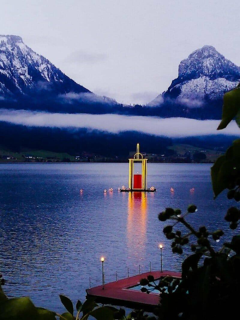 Lake Wolfgang lantern — best Christmas cities in Europe