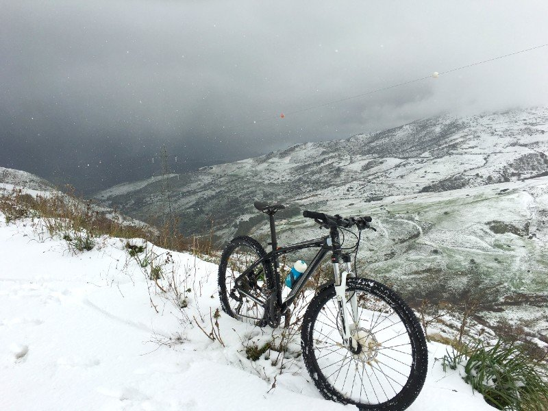 Leadville winter biking — places to visit in Colorado in the winter