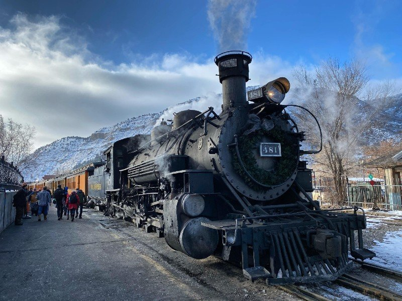 Polar Express Train Durango — places to visit in Colorado in the winter