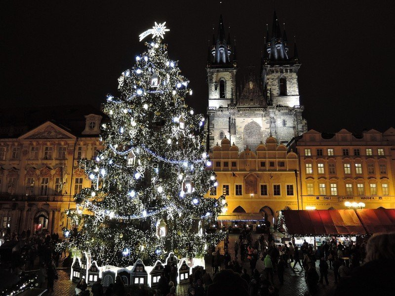 Christmas tree at Prague at Christmas — best Christmas cities in Europe