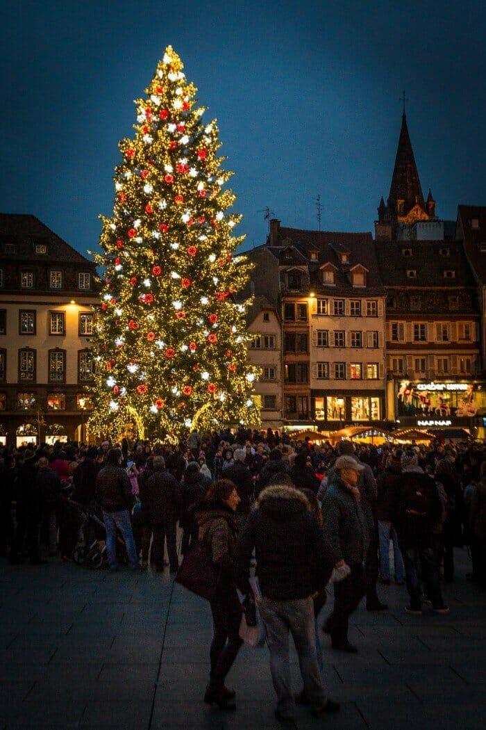 Strasbourg Christmas tree — best Christmas cities in Europe