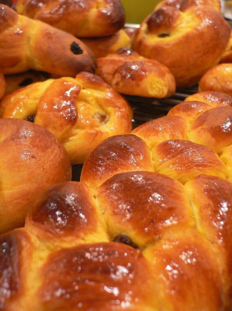 Swedish saffron buns — best Christmas cities in Europe