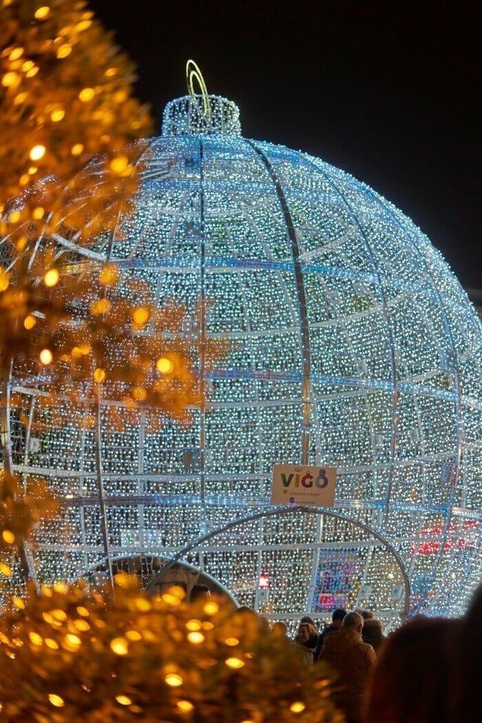 Vigo Christmas bauble — best Christmas cities in Europe