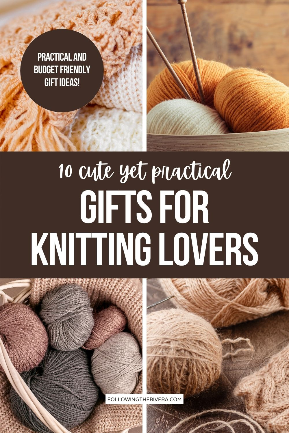 Photos of yarn and knitting needles - knitting gift ideas