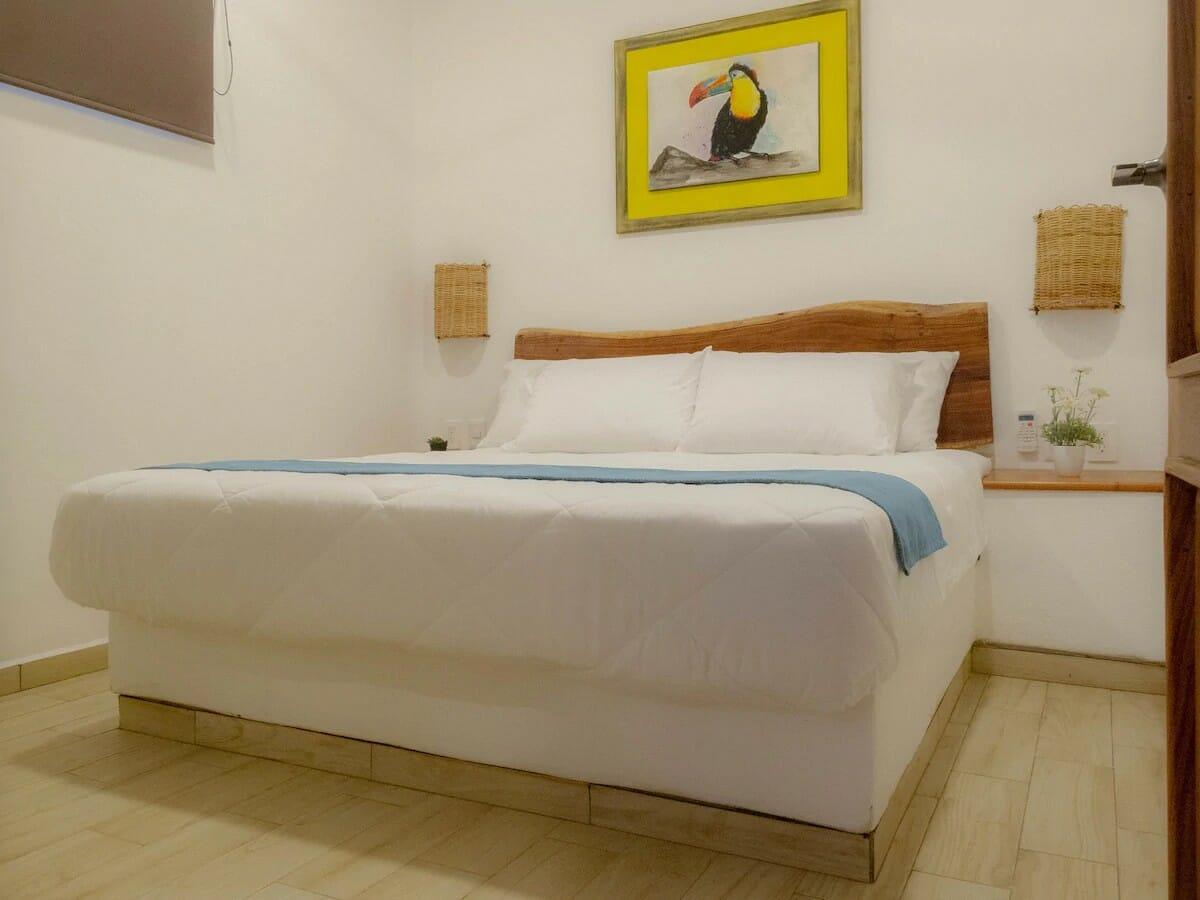 1 Hermoso Departamento - bedroom — where to stay in Tulum