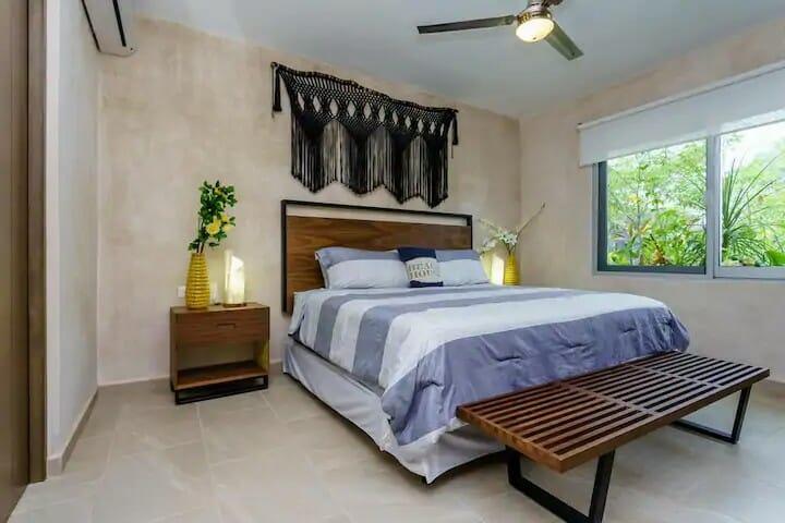 Aldea Zama - bedroom — where to stay in Tulum