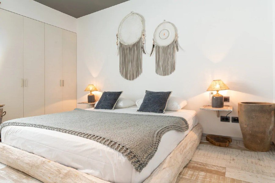Appartamento boho-chic bedroom — where to stay in Tulum